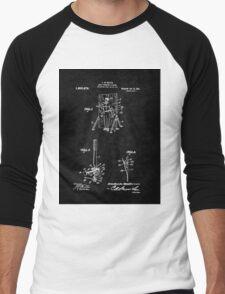 Magic - 1916 Knife Trowing Illusion Patent Men's Baseball ¾ T-Shirt