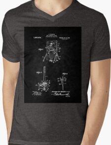 Magic - 1916 Knife Trowing Illusion Patent Mens V-Neck T-Shirt