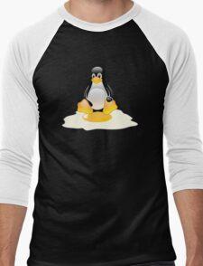 LINUX TUX  PENGUIN EGG MISCARRIAGE  Men's Baseball ¾ T-Shirt