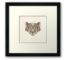 Decorative image of a cat Framed Print
