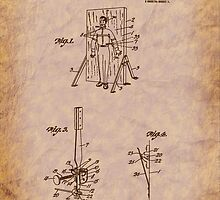 Magician - 1916 Knife Trowing Illusion Patent by Barry  Jones