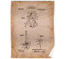 Magician - 1916 Knife Trowing Illusion Patent Poster
