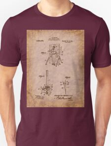 Magician - 1916 Knife Trowing Illusion Patent Unisex T-Shirt