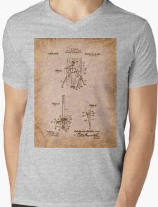 Magician - 1916 Knife Trowing Illusion Patent Mens V-Neck T-Shirt