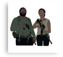 Sasha and Tyreese - The Walking Dead Canvas Print