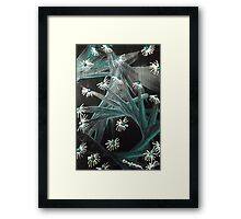 Spike Daisy green Framed Print