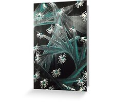 Spike Daisy green Greeting Card
