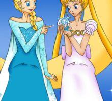 Princess Serenity and Queen Elsa Sticker