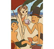 Layton and friends at the beach Photographic Print