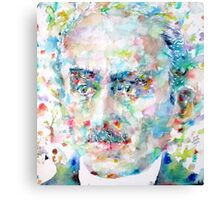 HENRI BERGSON - watercolor portrait Canvas Print