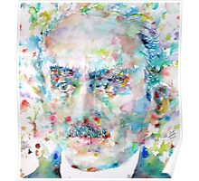 HENRI BERGSON - watercolor portrait Poster