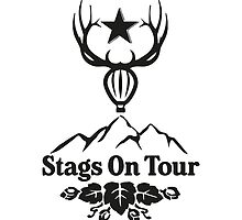 Stags On Tour - Stag Do - Ballooning T-Shirt by springwoodbooks