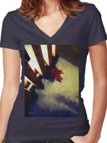 Last Leaf Women's Fitted V-Neck T-Shirt