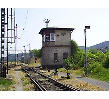Signal box at Zdice  Cz. Photographic Print