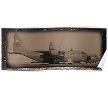 C-130 in Sepa-tone Poster