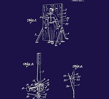 1916 Magician's Knife Throwing Illusion Patent Art by Barry  Jones