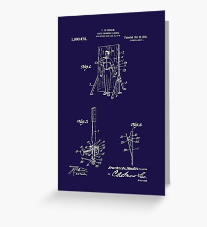 1916 Magician's Knife Throwing Illusion Patent Art Greeting Card
