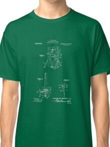 1916 Magician's Knife Throwing Illusion Patent Art Classic T-Shirt