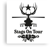 Stags On Tour - Stag Do - Helicopter T-Shirt Canvas Print