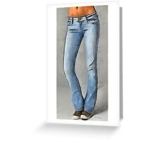 Her Favorite Jeans Greeting Card