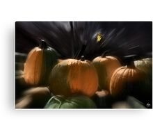A Rush of Painted Pumpkins  Canvas Print