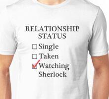 Relationship Status - Watching Sherlock & Watson Unisex T-Shirt