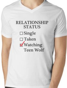Relationship Status - Watching Teen Wolf Mens V-Neck T-Shirt