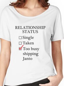Relationship Status - Too Busy Shipping Janto Women's Relaxed Fit T-Shirt