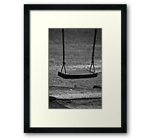 A lonely swing Framed Print
