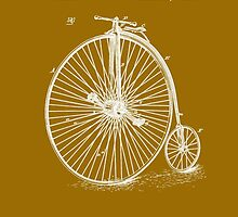 Bicycle - High Wheel - 1885 Nye Velocipede Patent by Barry  Jones