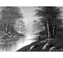 B/W Art Painting Photographic Print