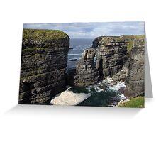 Loop Head Cliffs view Greeting Card