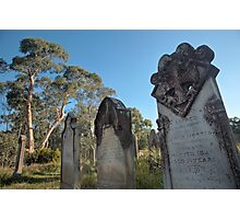 Collits Cemetary, Hartley Vale Photographic Print