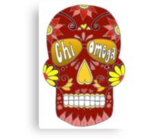 Chi Omega Sugar Skull Canvas Print