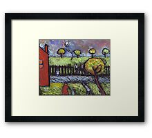 The lost balloon Framed Print