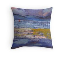 Woman on a beach Throw Pillow