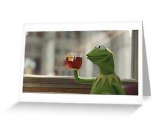 sippin dat tea Greeting Card