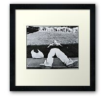 Down But Not Out Framed Print