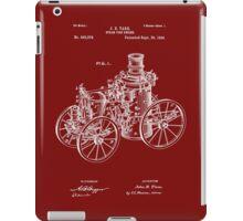 Fire Department - 1896 Tarr Steam Fire Engine Patent iPad Case/Skin