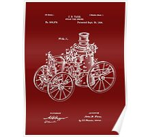 Fire Department - 1896 Tarr Steam Fire Engine Patent Poster