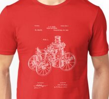 Fire Department - 1896 Tarr Steam Fire Engine Patent Unisex T-Shirt