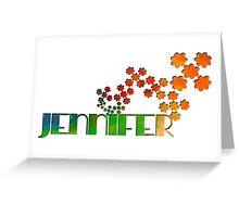 The Name Game - Jennifer Greeting Card