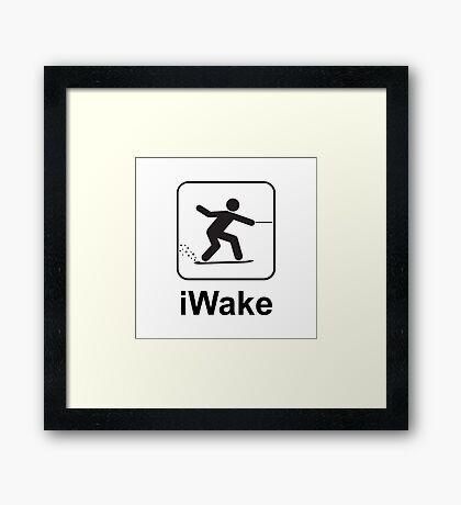 iWake Framed Print