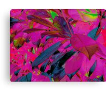 Leaves - Pink Canvas Print