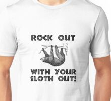 Rock Out Sloth Unisex T-Shirt