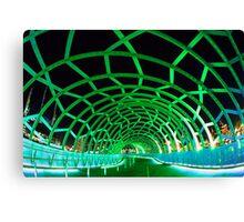 Webb Bridge Green Canvas Print