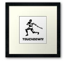 Baseball Touchdown Framed Print