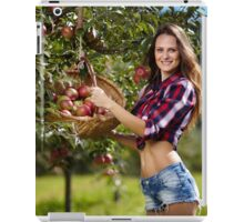 Beautiful woman picking apples iPad Case/Skin