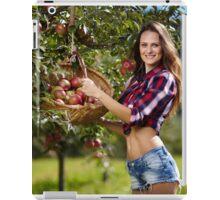 Beautiful woman picking apples iPad Case/Skin