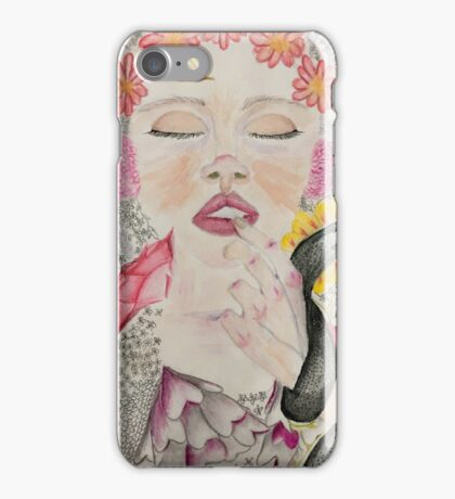 Floral Lady iPhone Case/Skin